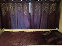 Dunelm matching set bedding curtains duvet 2xpillow
