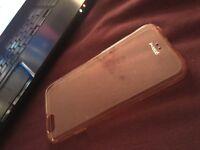 iPhone 6s transparent pink case
