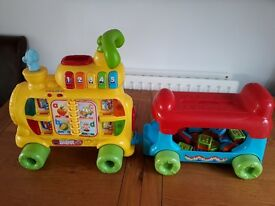 Vtech push and ride on alphabet train