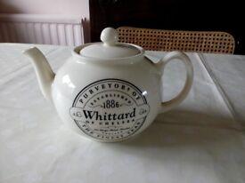 WHITTARD CREAM HIGH-GLAZE TEA POT
