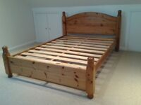 Solid pine double-bed - suitable for couples of all sizes