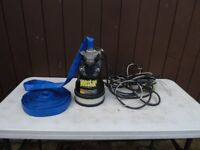 """Koshin Ponstar PXL-52511 1"""" Submersible Water Pump with Discharge Hose"""