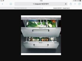 Hotpoint NCD1911 pull out drawer styl integrated fridge JOHN EWSIS EX DISPLAY NEVER USED RRP £700