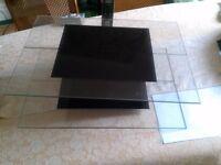 TV & Hi Fi glass shelving
