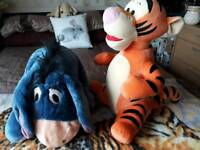 Large tigger and eeyore soft toys