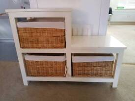 Freestanding Storage Unit with 3 Baskets