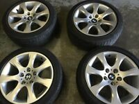 "bmw 3 series 16"" alloy wheels and tyres for sale £250 call 07860431401"