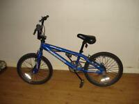Blue frame bmx bike