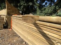 Timber half round fence rail 100mmx3.6m
