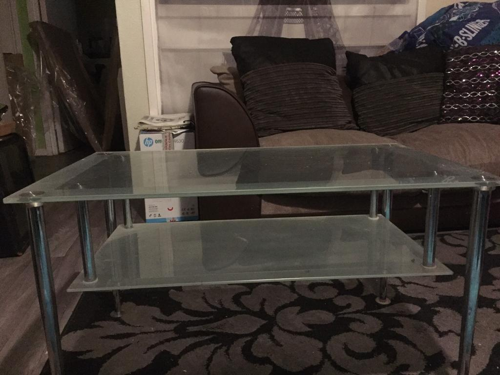 Glass table £25