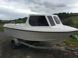 NEW 16FT FISHING BOAT WITH 50 hp 4 stroke ENGINE & TRAILER - FANTASTIC CONDITION AND