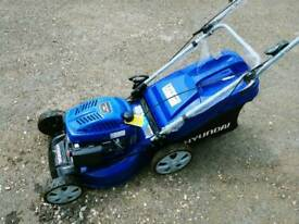 Hyundai self propelled lawn mower and collector. AS NEW!