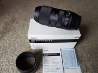 Sigma 100-400 mm F5-6.3 DG contemporary zoom lens CANON FIT as new boxed fully working