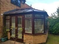UPVC Victorian Style Brown Conservatory