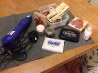 Heat gun, embossing powders and stampers