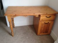 Vintage-style pine desk