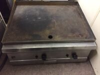Parry large gas griddle cooking hot plate