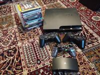 Sony PlayStation 3 Slim 250GB Console w/ 2 controllers, PlayTV & 11 Games