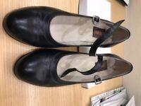 Pair of Ladies' Black Dancing Shoes, size 39 1/2