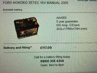 New (fits Ford Mondeo) YUASA YBX3000 AA4003 550 amp CAR BATTERY!