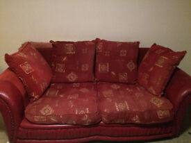 Free red 2 seater sofa