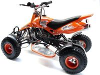 Midi moto quad bike running