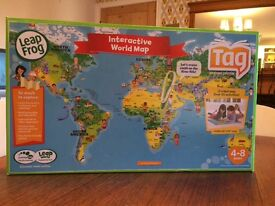 Leap Frog Interactive World Map (Tag Learning System) - AS NEW - RRP £80!