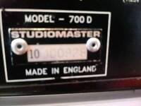 STUDIO MASTER 700d amplifier