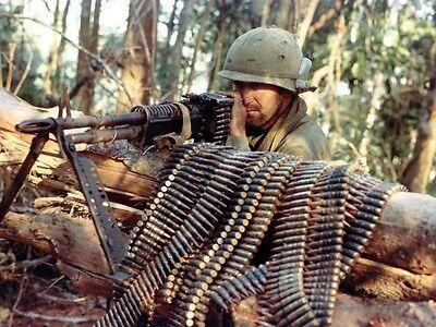 Color Vietnam War Photo, M-60 Machine Gun US Army