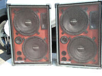 Pair of Custom Sound speakers.
