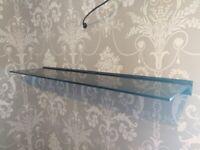 Glass floating shelf