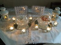 13 Round Glass Mirror Plates (Wedding/Special Occasion Table Decoration). £25