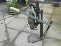 Old electric Black & Decker Drill and Drill Stand still working
