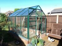 8X6 GREENHOUSE (THE GREENHOUSE PEOPLE MAKE) TOUGHENED GLASS BAR END CAPS