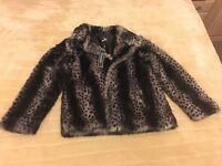 Beautiful grey Pistachio Faux fur coat
