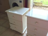 Bedside table x 2 - shabby chic