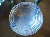 ART DECO MALING BOWL WITH A SATIN LUSTRE FINISH DESIGNED BY NORMAN CARLING EXCELLENT CONDITION £90