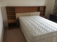 Free good double bed with 4 drawer divan and surround