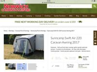 Sunncamp swift air220 caravan awning 2017