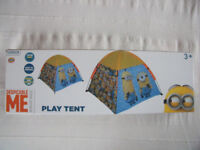 NEW Despicable Me Minion Made boxed fold-away indoor or outdoor play tent in bag. £10 ovno