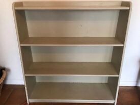 Book case painted, VGC, bathroom chest for towels, good for display or storage