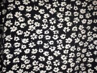 Red Herring Ladies Dress Size 16 Black with white daisy print,very good condition as seldom worn