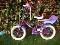 Rayleigh Girls bike - excellent condition with stabiliser. 3 - 6yrs
