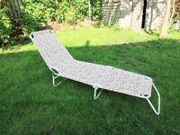 Floral Sun lounger £10 Folds away for easy storage
