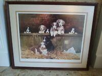 David Shepherd OBE large print framed 1980's