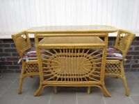 Cane Furniture Two Seater Breakfast Set