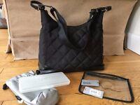 Oi Oi Hobo Quilt black diamond Changing Bag. Designer Baby nappy change bag. Skip hop, Babymel