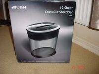 bush 12 sheet cross cut paper shredder