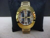 very beautiful men's rado diastar day/date automatic scratchproof watch ,v/nice..
