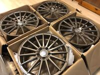 "4 x NEW 18"" BRONZE VOSSEN STYLE ALLOY WHEELS 5x112 5 112 POLISHED AUDI A5 VW golf mk5 mk6 a3"